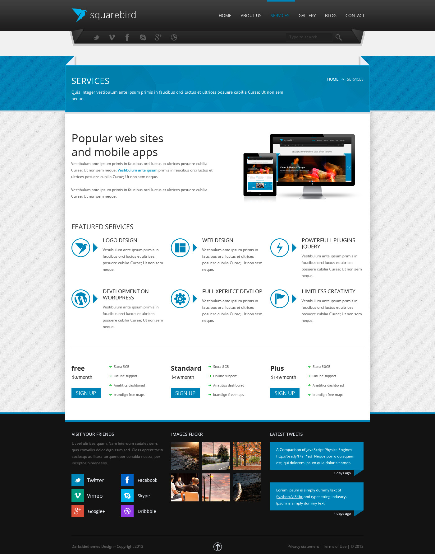 Squarebird - PSD Multipurpose Theme