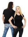Couple with blank black shirts - PhotoDune Item for Sale