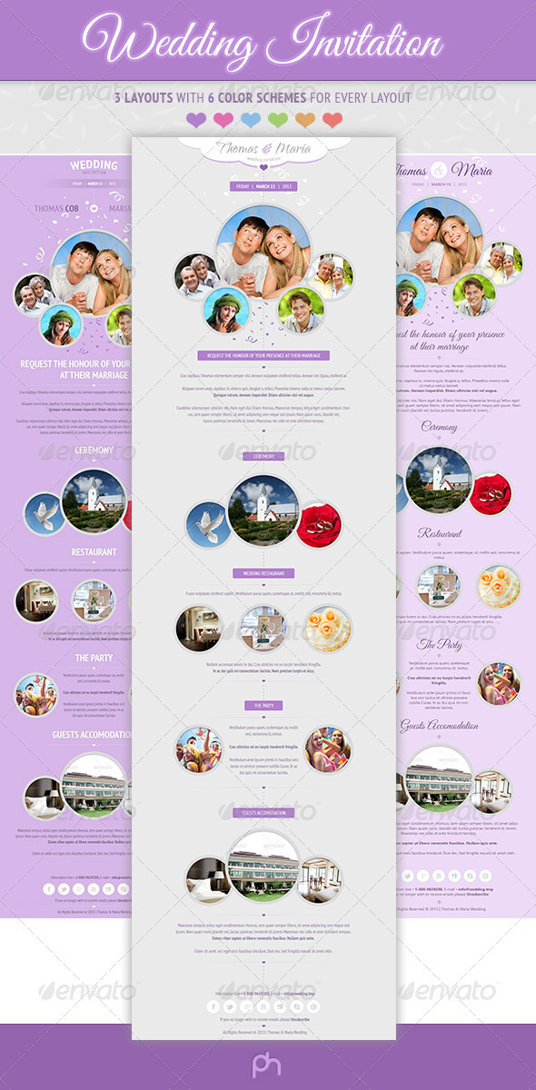 Wedding Invitation E-newsletter - E-newsletters Web Elements