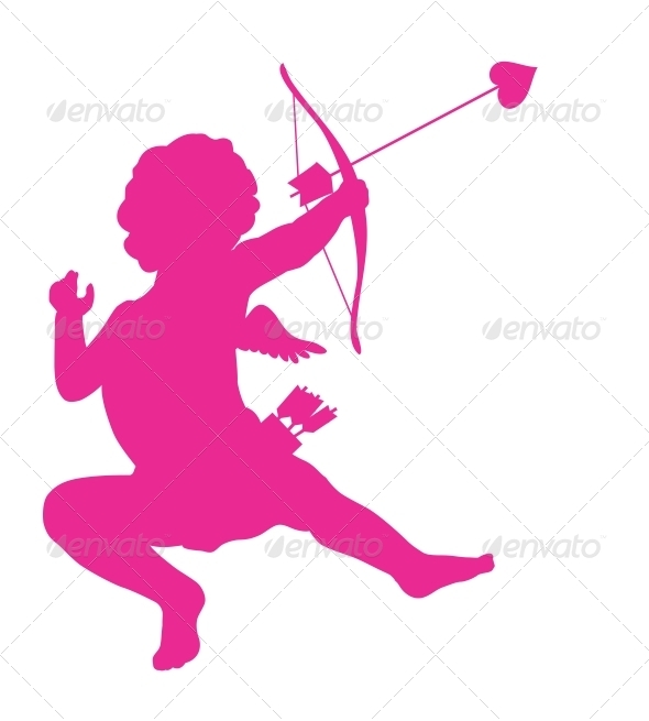 GraphicRiver Cupid Silhouette 3917179