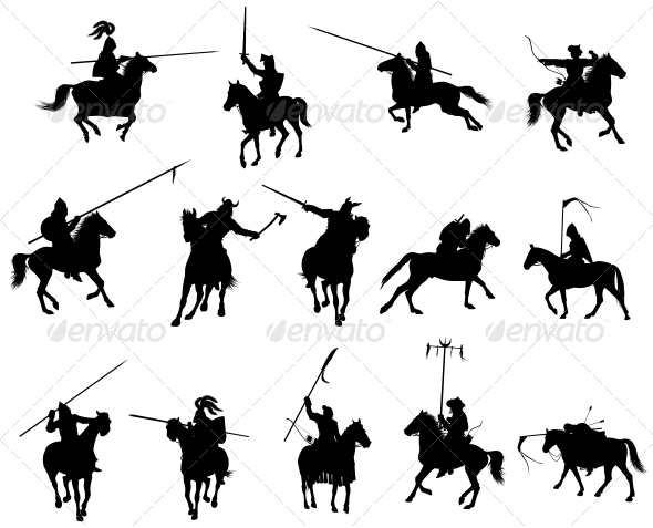 GraphicRiver Vector Horsemen Set 3917250