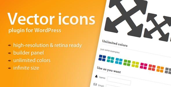 Vector Icons for WordPress