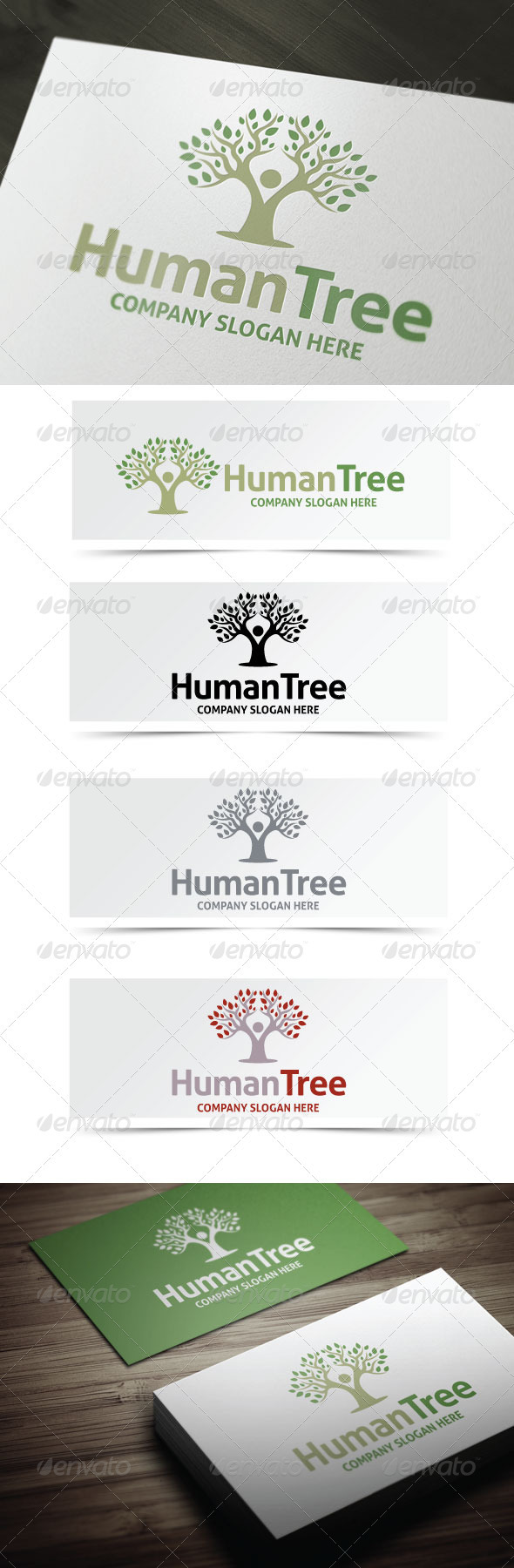 GraphicRiver Human Tree Logo 3719667