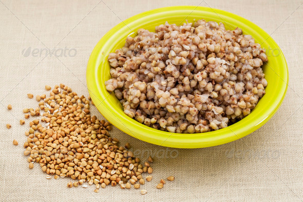 buckwheat kasha cooked - Stock Photo - Images