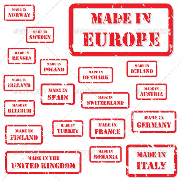 GraphicRiver Made in Europe Rubber Stamps 3918394