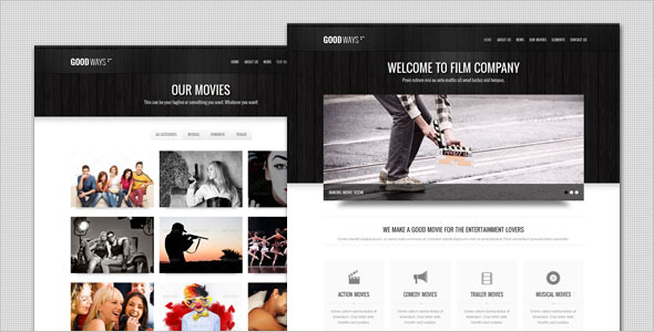 Goodways - Entertainment and Film HTML Template