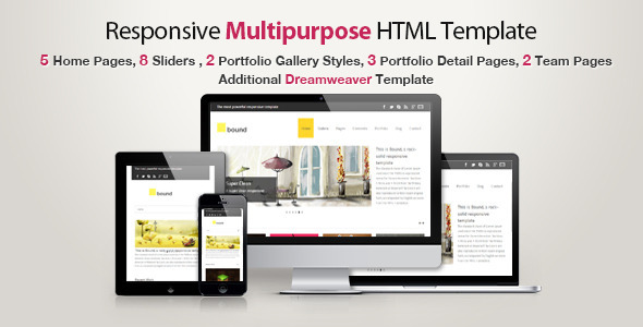 ThemeForest Responsive HTML Template Bound 3916639