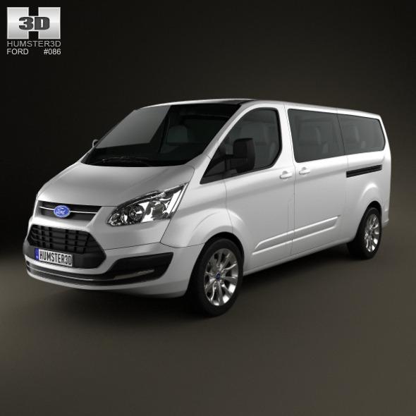 3DOcean Ford Tourneo Custom LWB 2013 3921174