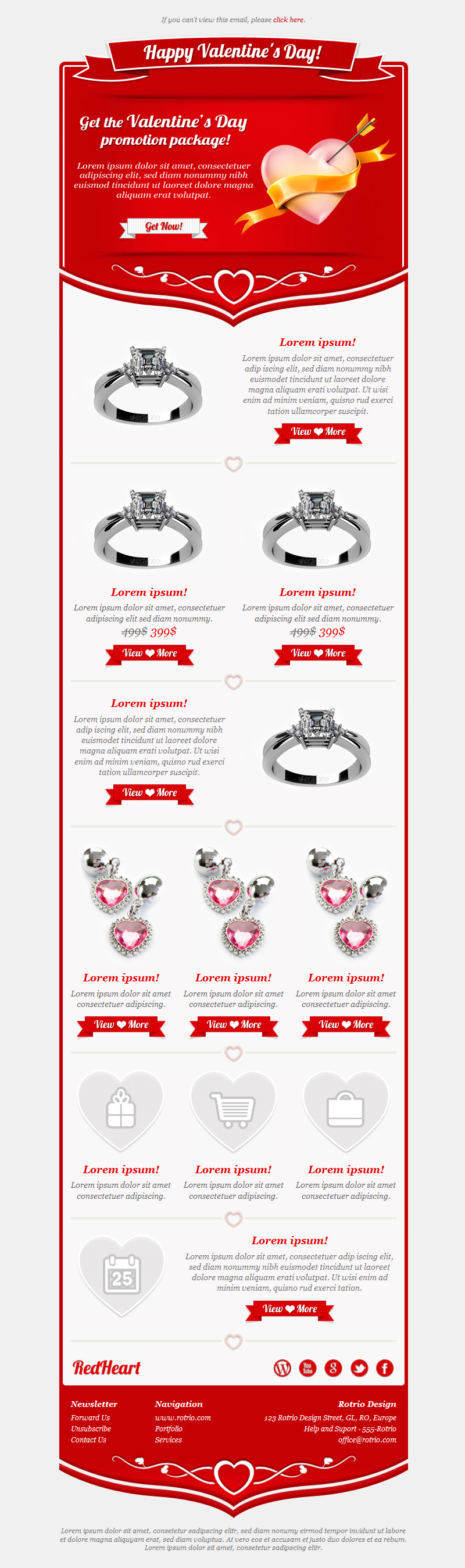 Valentines Day - Email Templates