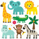 Vector Animals Set - GraphicRiver Item for Sale