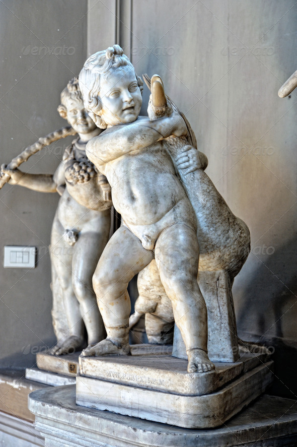 Sculptures in Vatican museum. - Stock Photo - Images
