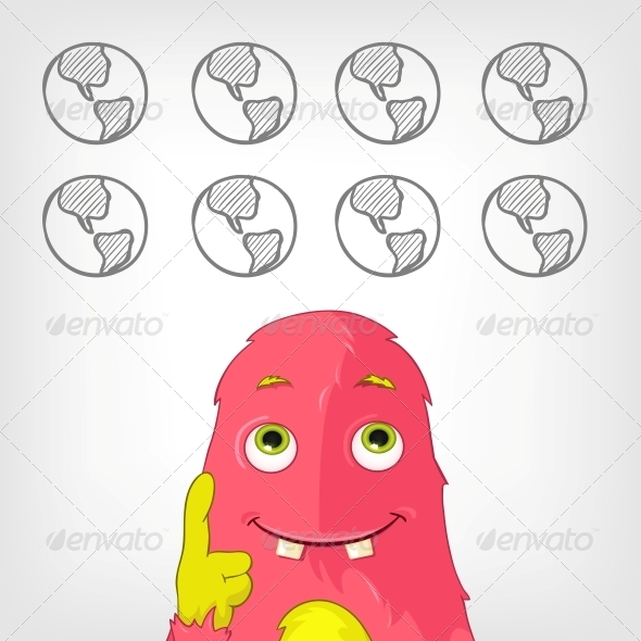 GraphicRiver Funny Monster 3924761