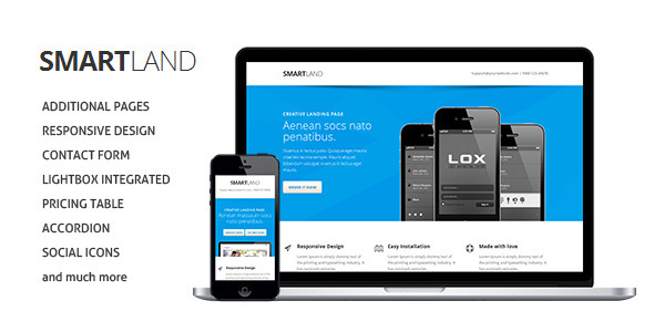 Smartland Responsive Multipurpose Landing page - Landing Pages Marketing