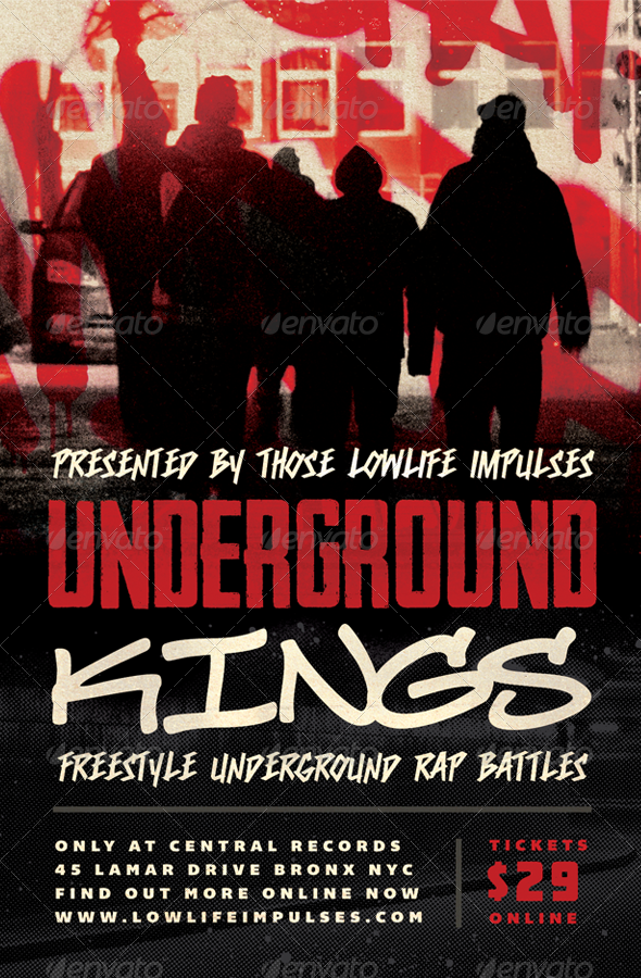 GraphicRiver Underground Kings Hip-Hop Flyer Template 3928355