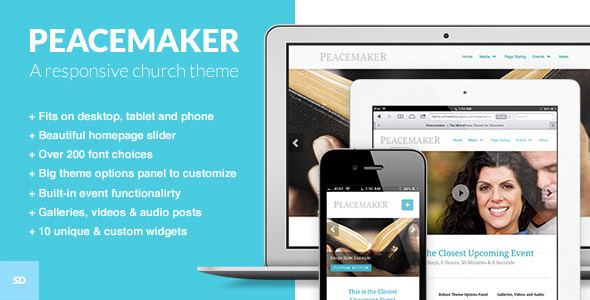 Peacemaker - The WordPress Theme for Churches - Churches Nonprofit