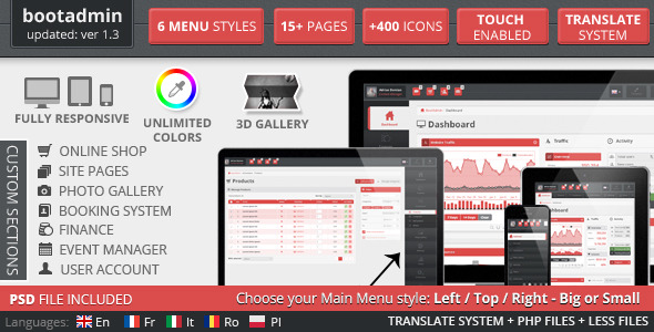 BootAdmin - All-In-One Admin Responsive Template