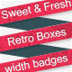 Sweet Retro Web Boxes With Badges - GraphicRiver Item for Sale