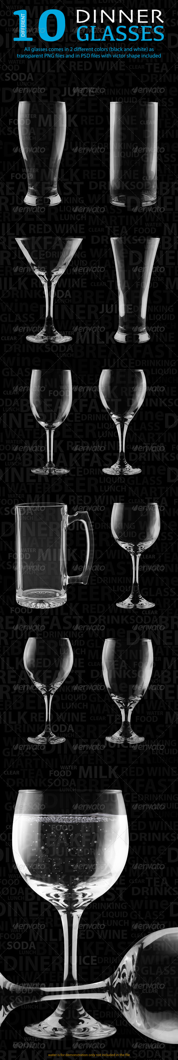 GraphicRiver Isulated Glass 3854652