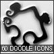 60 Doodle Icons Collection v1.0 - GraphicRiver Item for Sale
