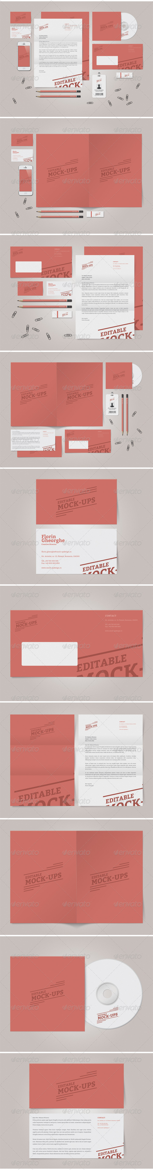 GraphicRiver Simple Stationery Mock-Up 3929758