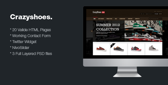 CrazyShoes - Premium HTML template