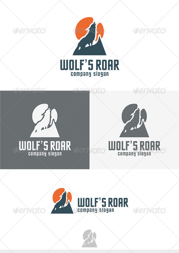 Wolfs Roar Logo - Animals Logo Templates