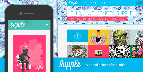 View live Demo for Supple - Mobile Ready Responsive Tumblr Portfolio Theme