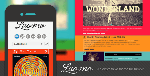 Luomo - A Responsive &amp; Expressive Tumblr Theme - Blog Tumblr