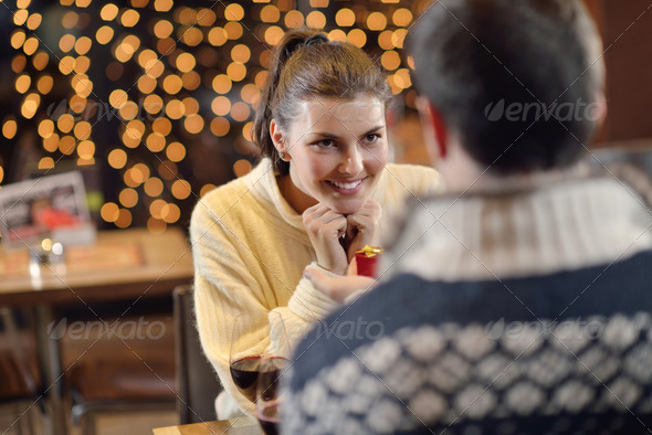 PhotoDune young man gives a gift to girl 3939153