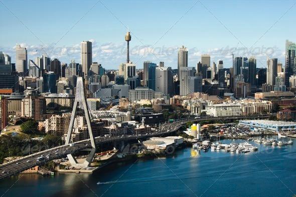 PhotoDune Sydney Australia aerial 424383