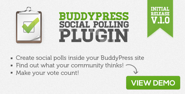 BuddyPress Social Polling Plugin - CodeCanyon Item for Sale