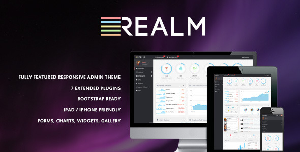 The Realm - Clean & Modern Admin Template