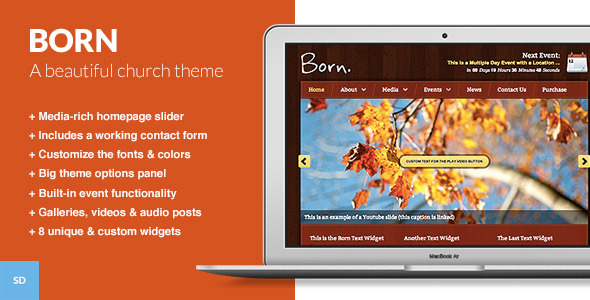Born - The WordPress Theme for Churches