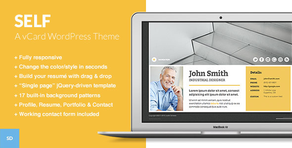 Self - A Responsive vCard WordPress Theme - Portfolio Creative