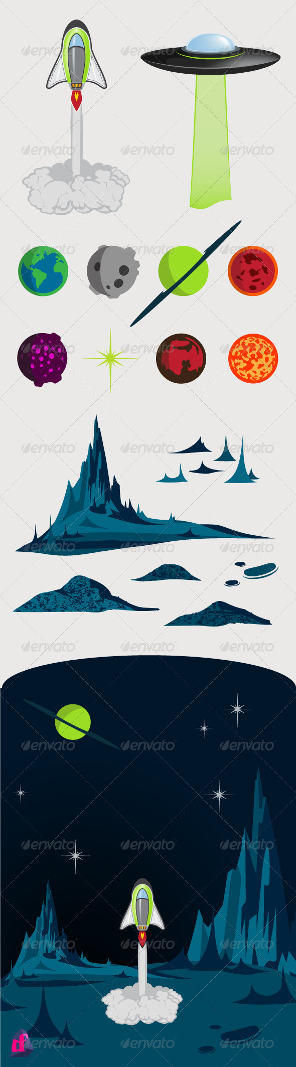 GraphicRiver Space Kit 3836356