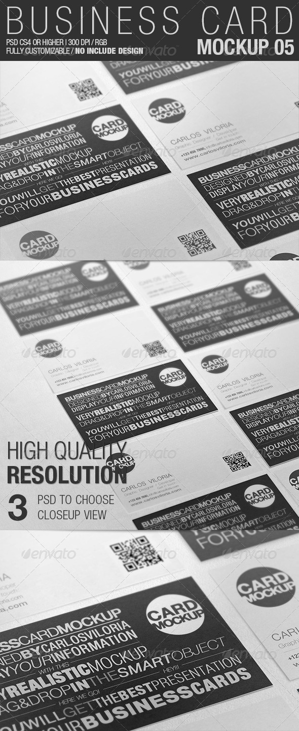 Business Card Mockup 05 - Business Cards Print