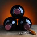 Three Wine Bottles and Cork screw - PhotoDune Item for Sale