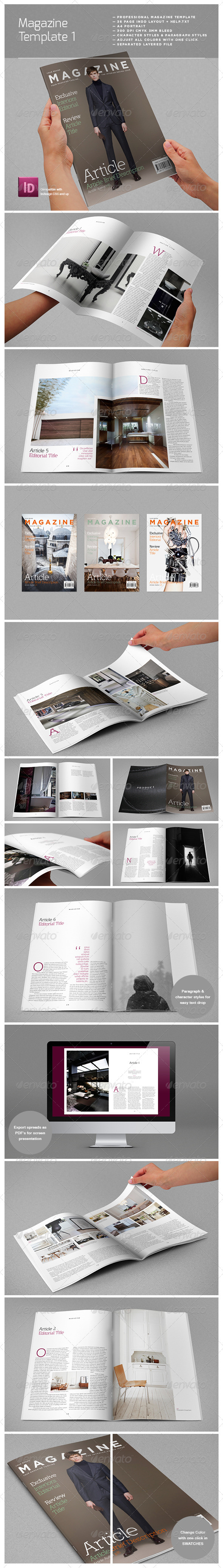 GraphicRiver Magazine Complete Template 3932642