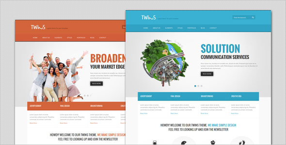 Twins - Corporate Business WordPress Theme