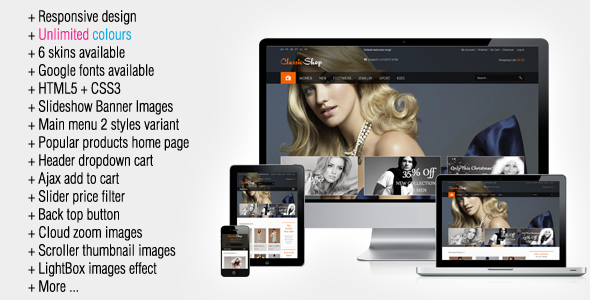 ClassicShop Responsive Magento Theme - Magento eCommerce