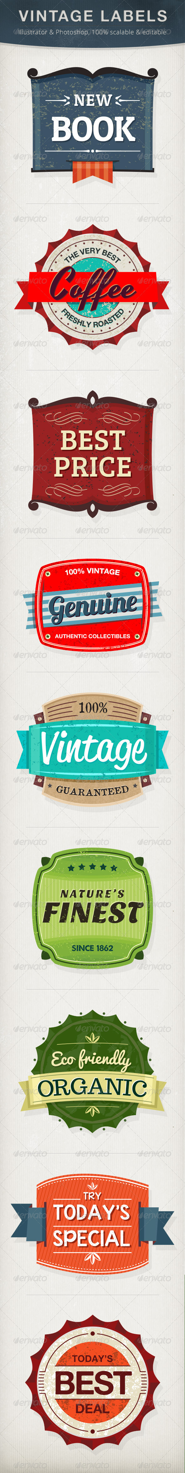 Vintage Labels - Badges &amp; Stickers Web Elements