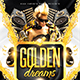Golden dreams party flyer - GraphicRiver Item for Sale