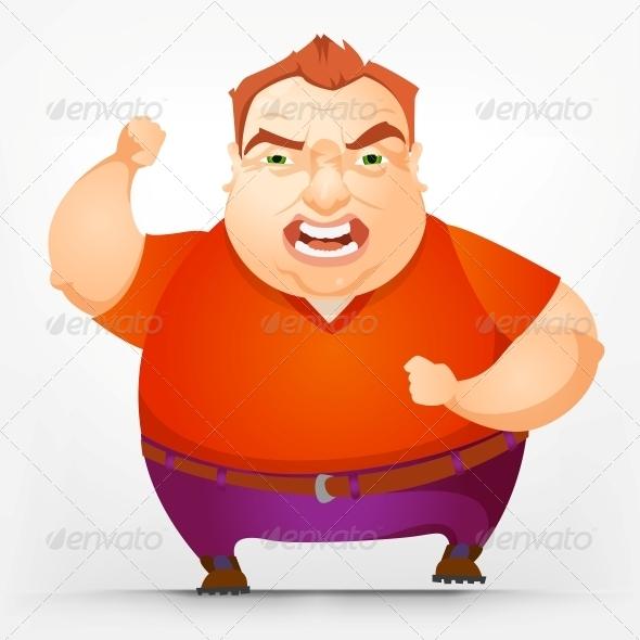 GraphicRiver Cheerful Chubby Man 3936396
