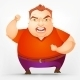 Cheerful Chubby Man - GraphicRiver Item for Sale