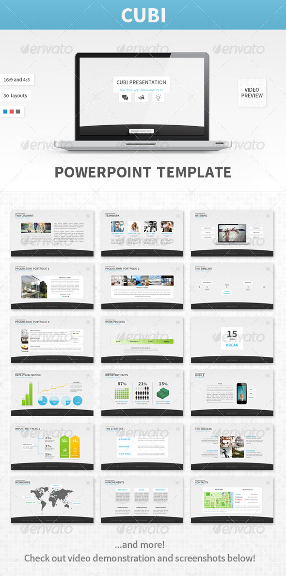 Cubi PowerPoint Template - Business Powerpoint Templates