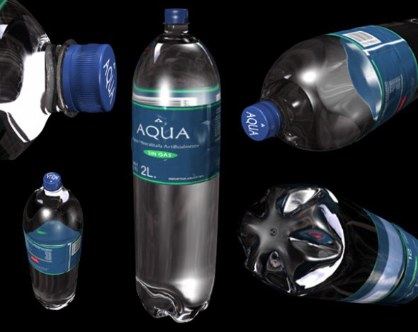 3DOcean Bottle of Water 3937605