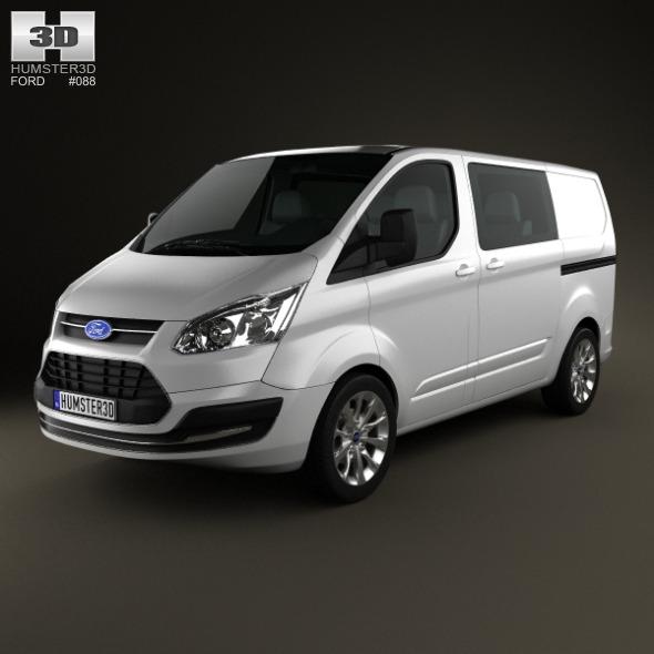 3DOcean Ford Transit Custom Crew Van SWB 2013 3938203