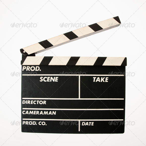 Movie clapboard - Stock Photo - Images