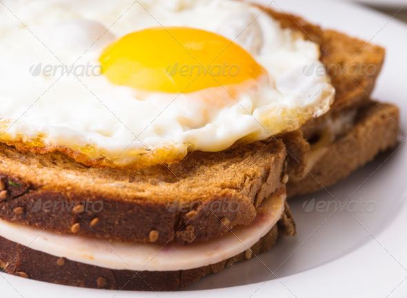 Croque Madame - Stock Photo - Images