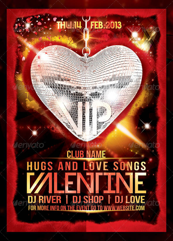 Valentine Vip Party Template - Events Flyers
